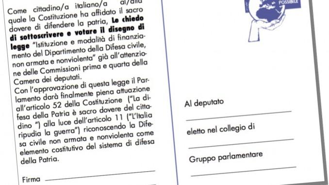 cartolina ai parlamentari