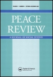Peace Review cover
